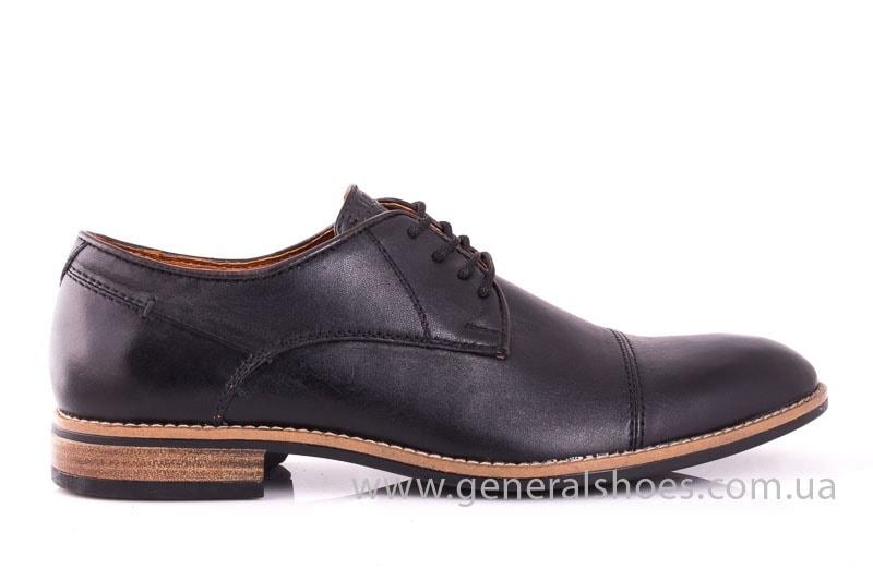 Мужские кожаные туфли Falcon 7915 blk фото 2