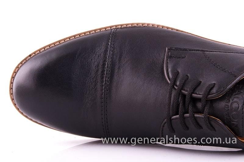 Мужские кожаные туфли Falcon 7915 blk фото 4
