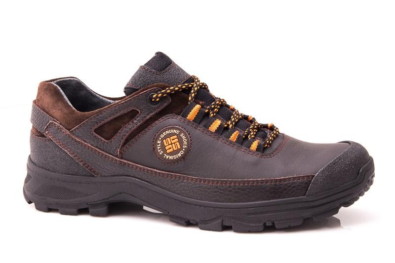 Мужские кожаные кроссовки GS 67 br. фото 1