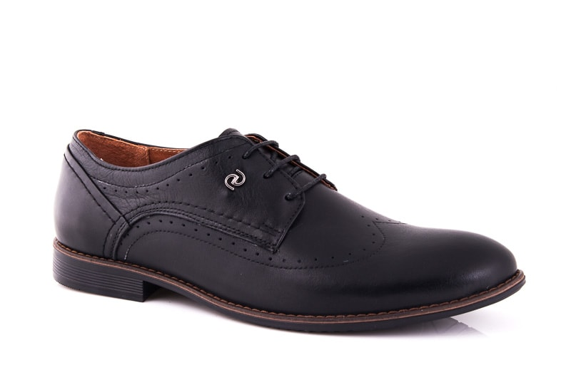 Мужские кожаные туфли Ed-Ge Dox blk фото 1