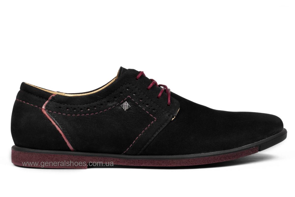Мужские туфли из нубука Falcon 17216 blk.n фото 1