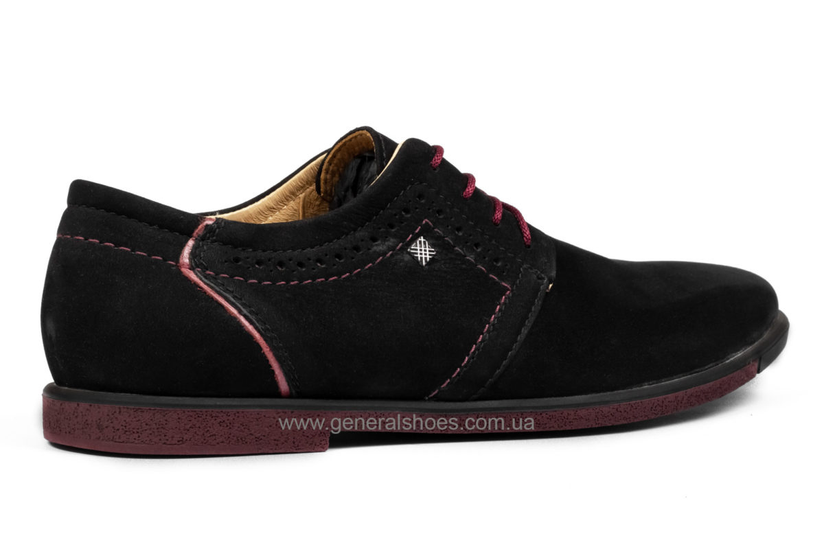 Мужские туфли из нубука Falcon 17216 blk.n фото 2
