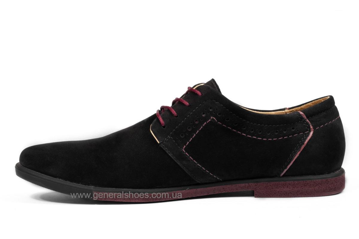 Мужские туфли из нубука Falcon 17216 blk.n фото 3