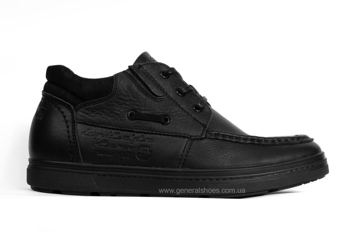 Мужские зимние кожаные ботинки Falcon 50817 blk. фото 1