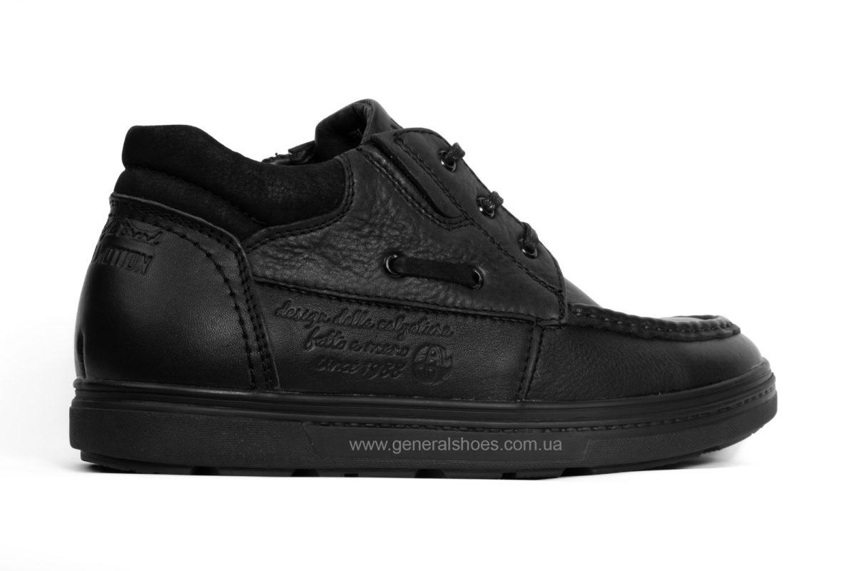 Мужские зимние кожаные ботинки Falcon 50817 blk. фото 2