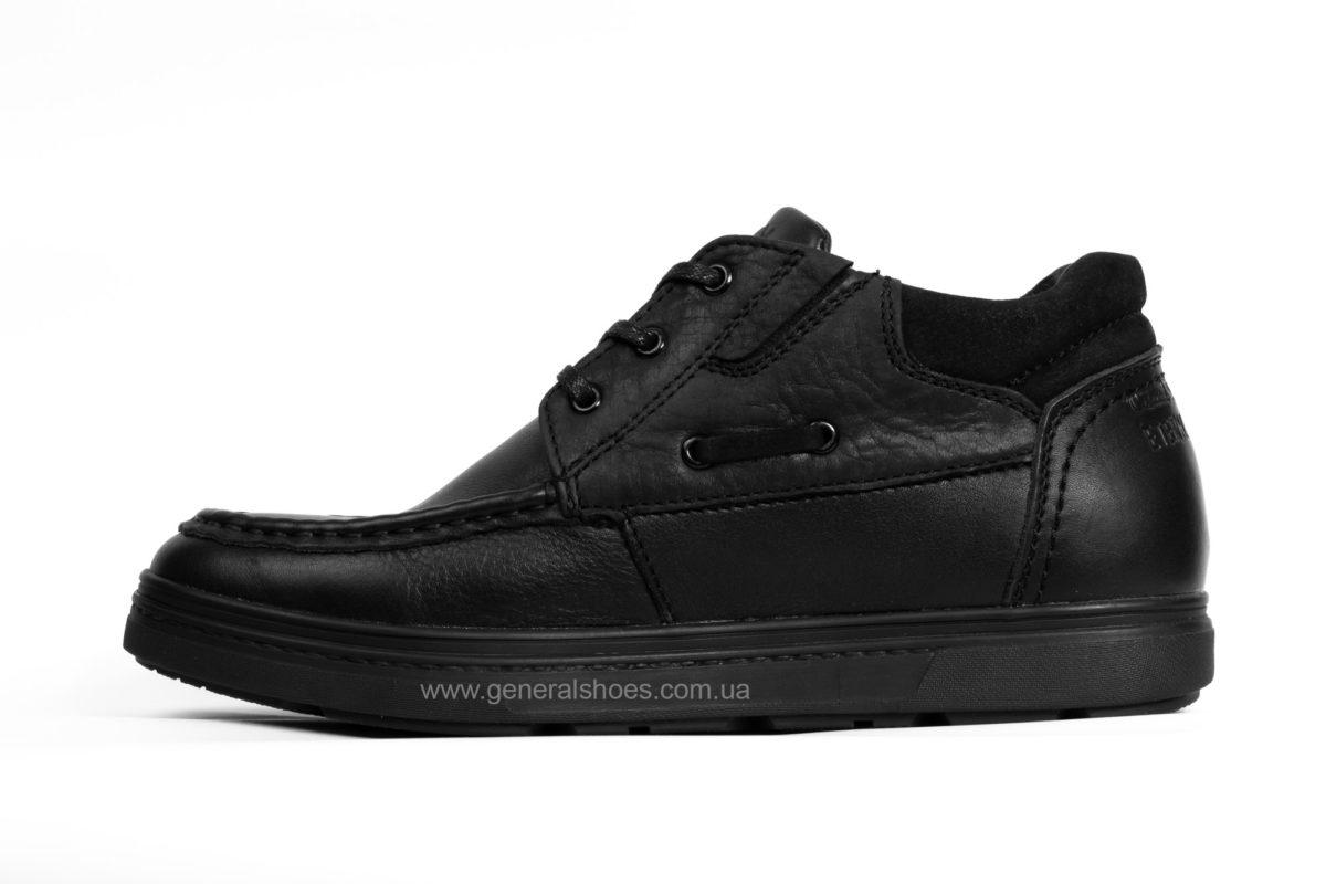 Мужские зимние кожаные ботинки Falcon 50817 blk. фото 3