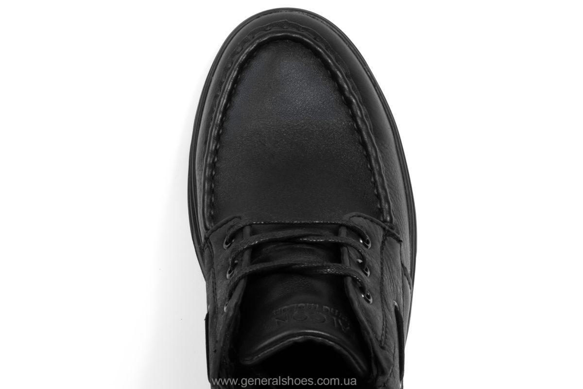 Мужские зимние кожаные ботинки Falcon 50817 blk. фото 5