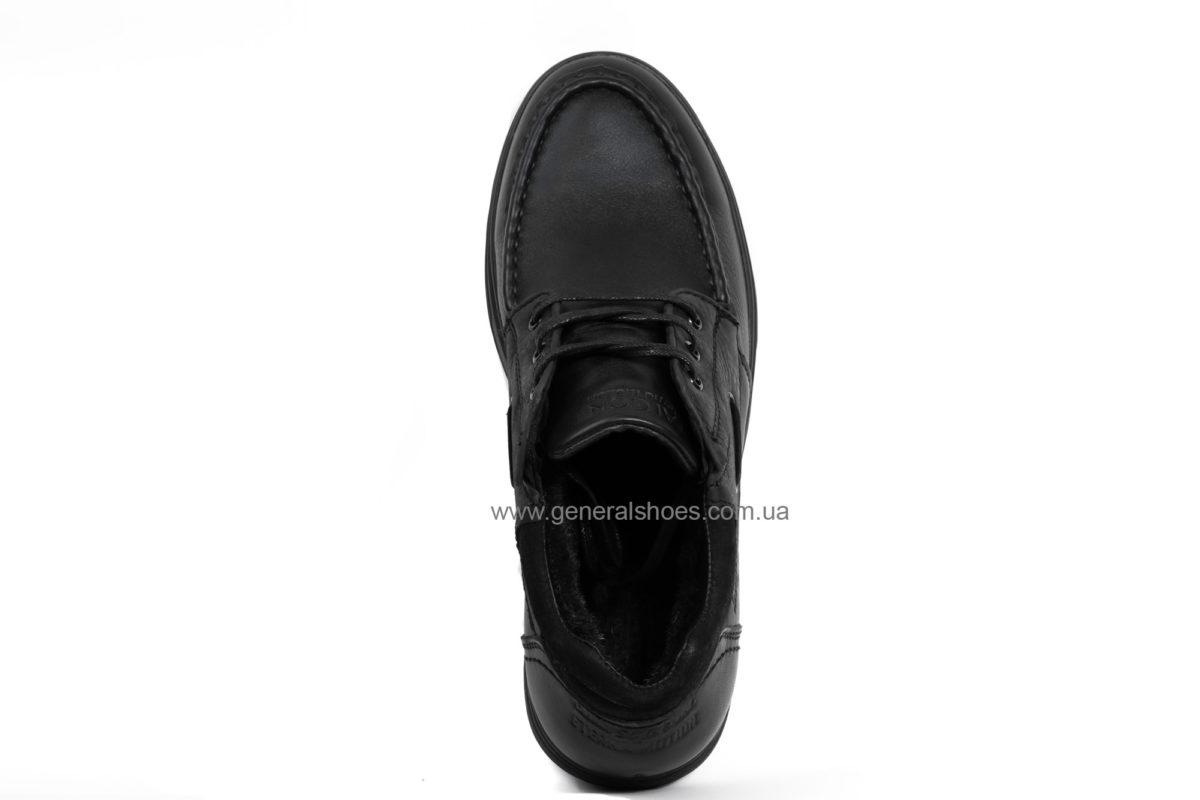 Мужские зимние кожаные ботинки Falcon 50817 blk. фото 6