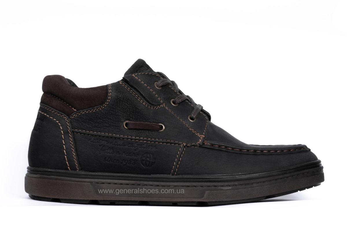 Мужские зимние кожаные ботинки Falcon 50817 blk.m. фото 1