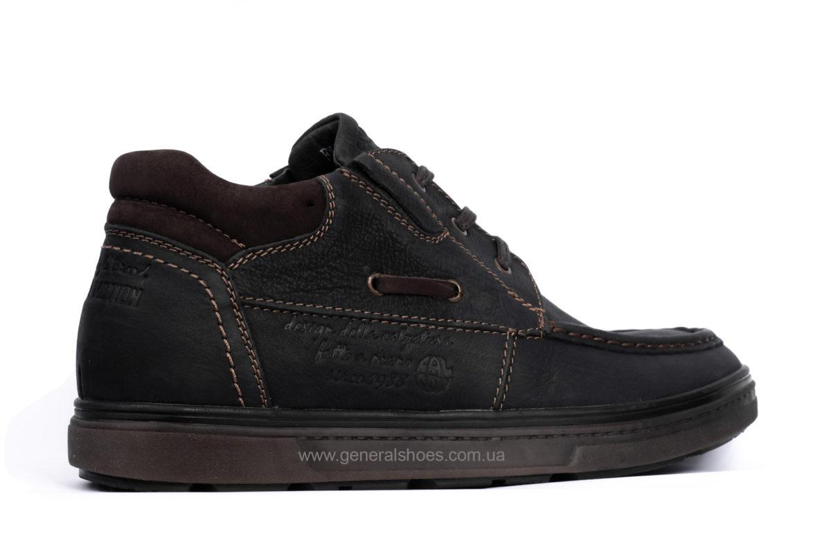 Мужские зимние кожаные ботинки Falcon 50817 blk.m. фото 2