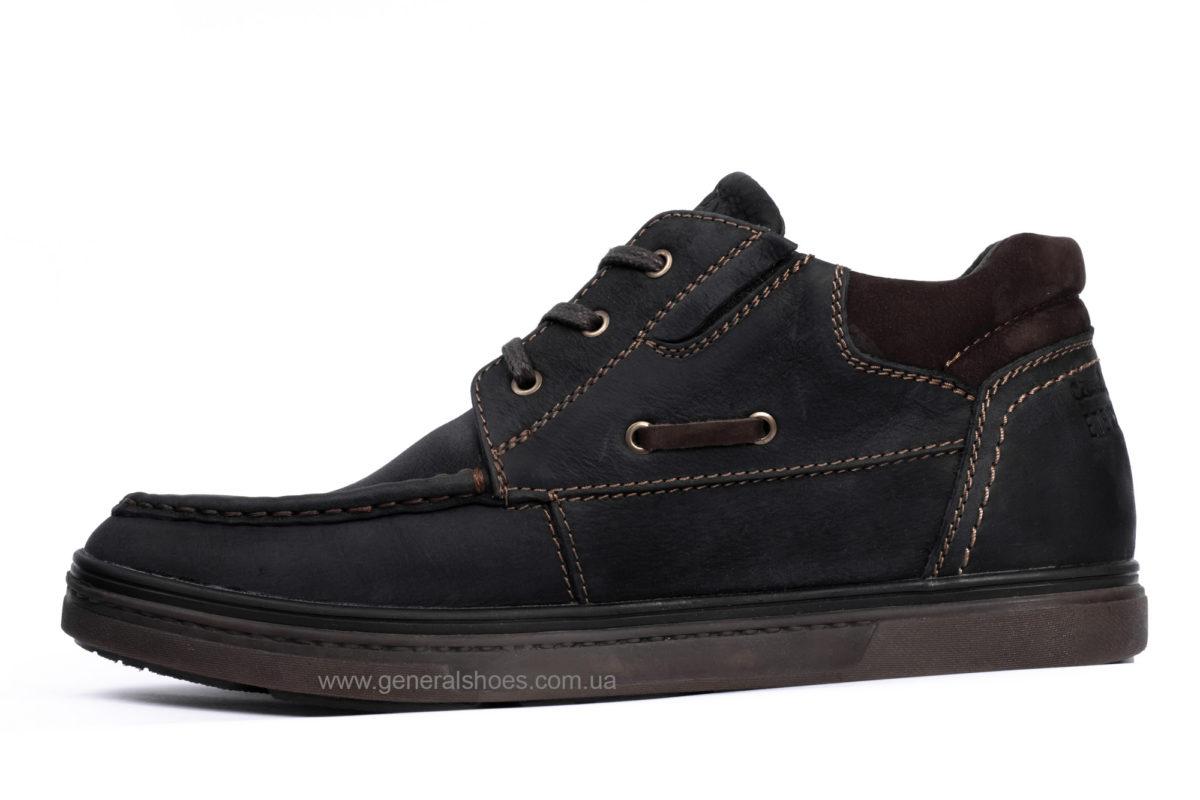 Мужские зимние кожаные ботинки Falcon 50817 blk.m. фото 3