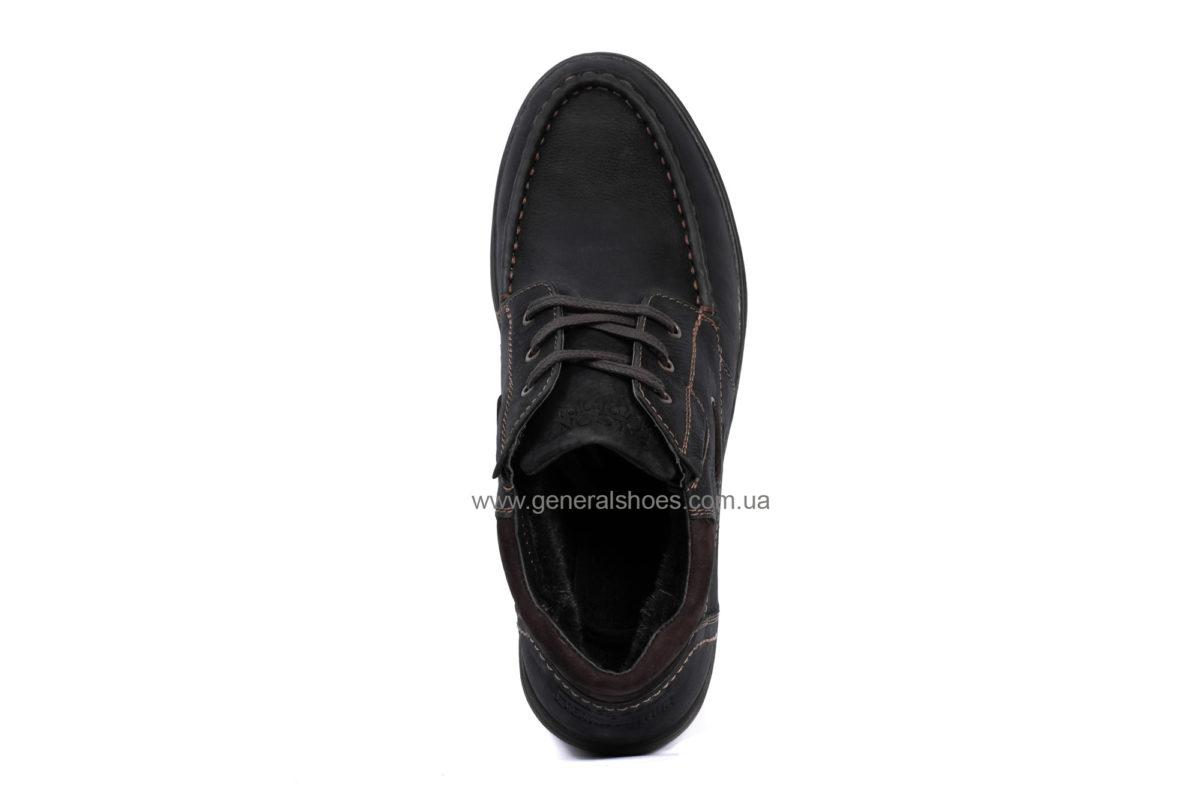 Мужские зимние кожаные ботинки Falcon 50817 blk.m. фото 5