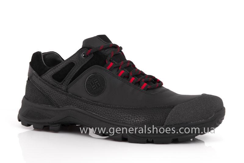 Мужские кожаные кроссовки GS 67 черные фото 1