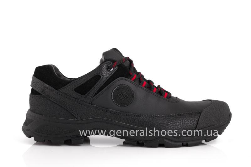 Мужские кожаные кроссовки GS 67 черные фото 2