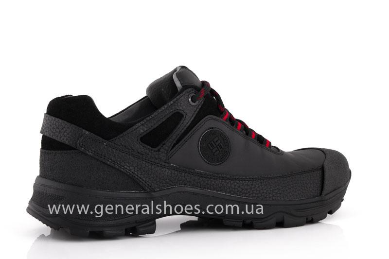 Мужские кожаные кроссовки GS 67 черные фото 3