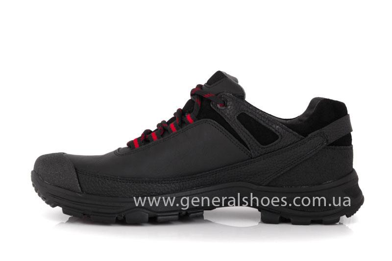Мужские кожаные кроссовки GS 67 черные фото 4
