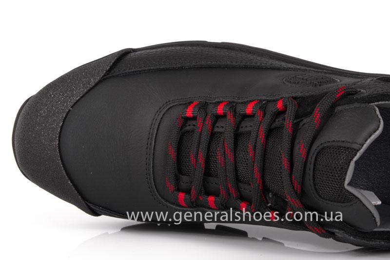 Мужские кожаные кроссовки GS 67 черные фото 5