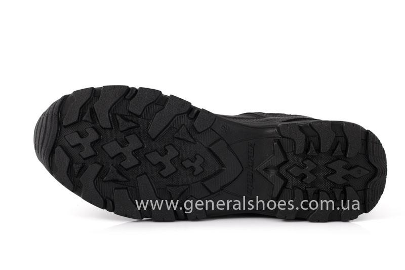 Мужские кожаные кроссовки GS 67 черные фото 6
