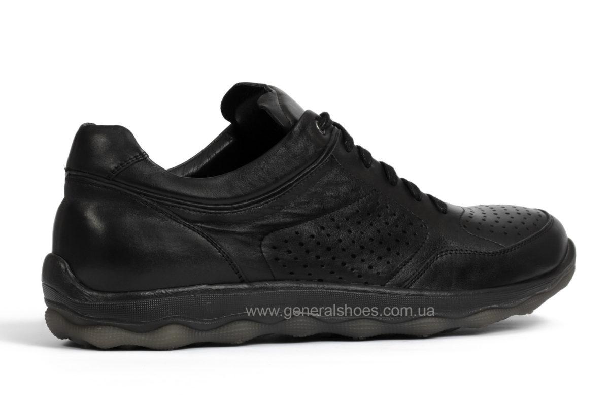Мужские кожаные кроссовки Madiro 36-1113 blk. фото 2