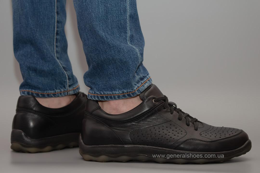 Мужские кожаные кроссовки Madiro 36-1113 blk.