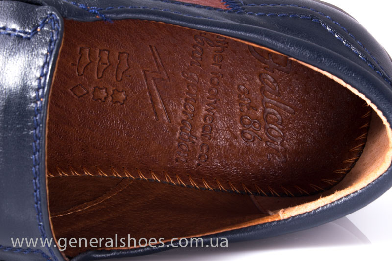 Мужские кожаные мокасины Falcon 16617 blue фото 7