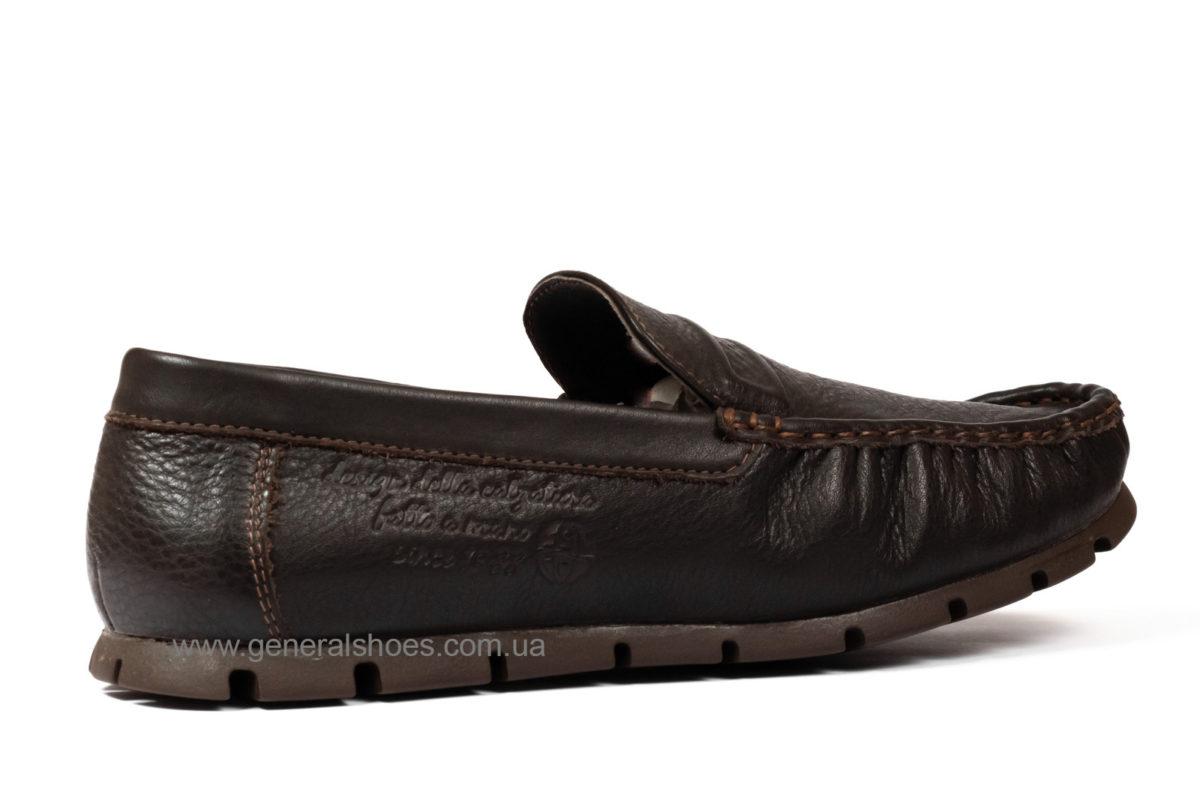 Мужские кожаные мокасины Falcon 20516 br. фото 2