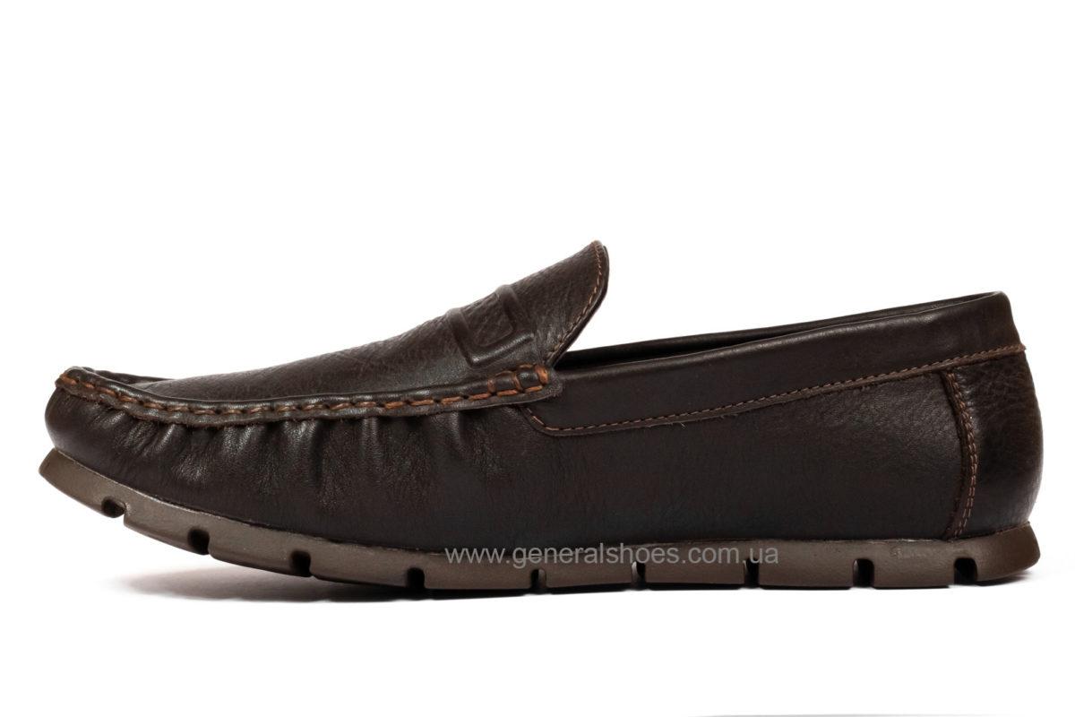 Мужские кожаные мокасины Falcon 20516 br. фото 3