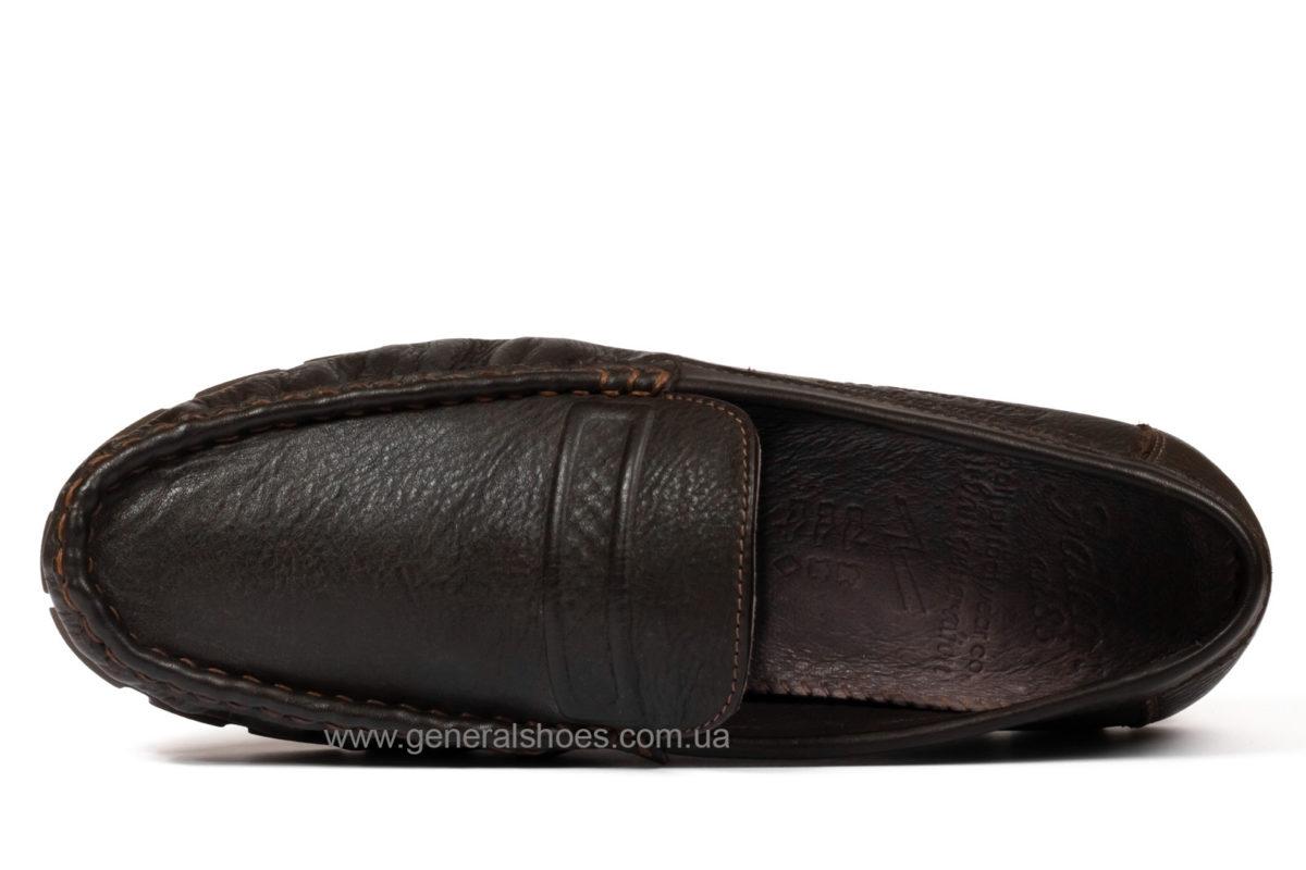 Мужские кожаные мокасины Falcon 20516 br. фото 4