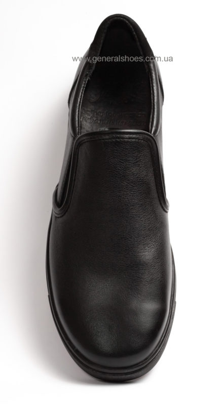 Мужские кожаные слипоны Falcon 1615 черные фото 4