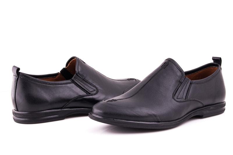 Мужские кожаные туфли Esente 3202-452 blk фото 3