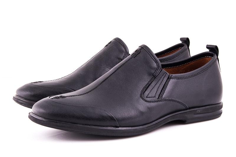 Мужские кожаные туфли Esente 3202-452 blk фото 1