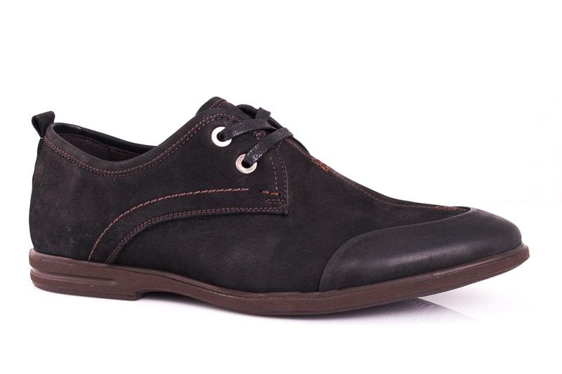 Мужские туфли из нубука Esente 3102-236 bln фото 1