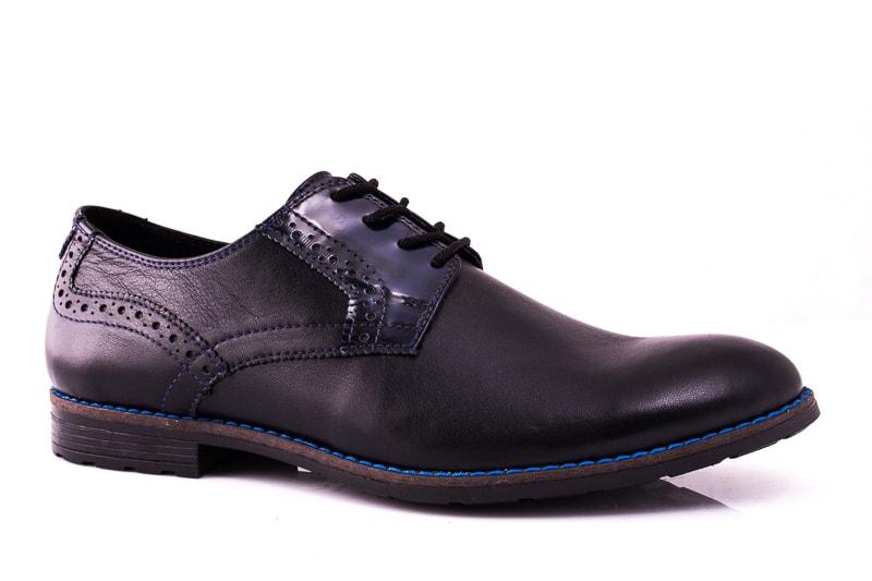 Мужские кожаные туфли Falcon 7715 blk фото1