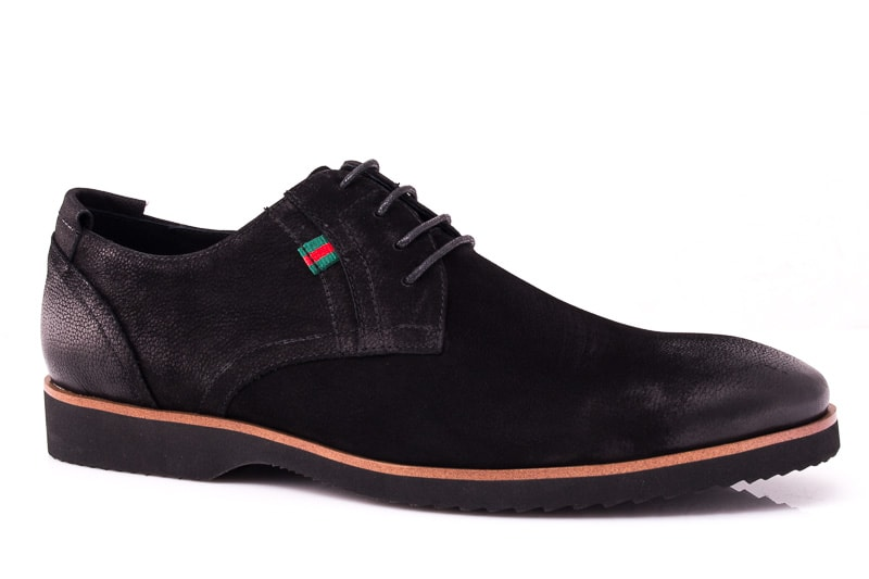 Мужские туфли из нубука M 1631-1-8 bln. фото 1