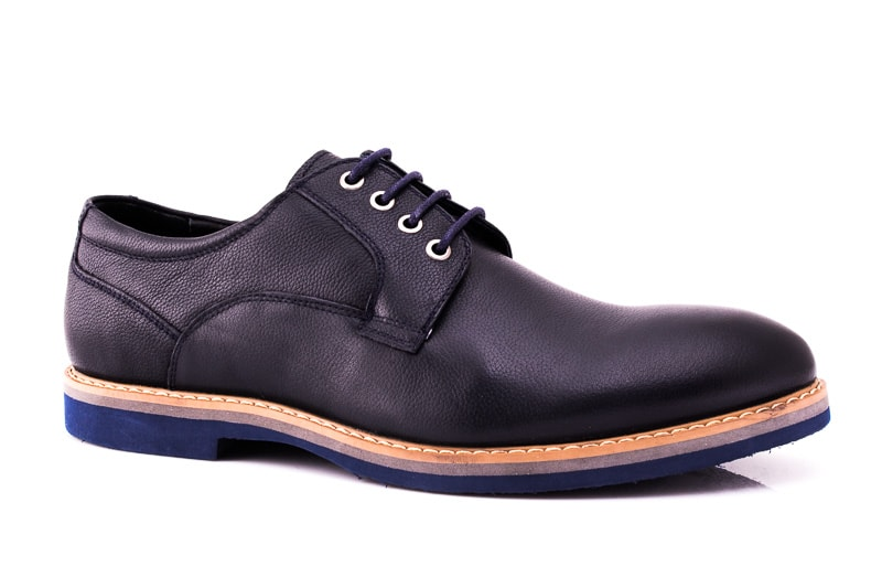 Мужские кожаные туфли M 16/726/121 blue фото 1