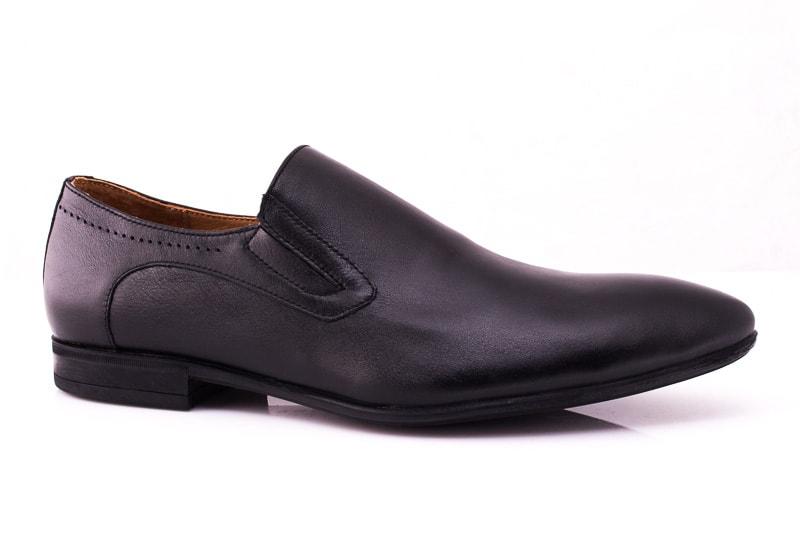 Мужские кожаные туфли Rondo 393 blk. фото 1