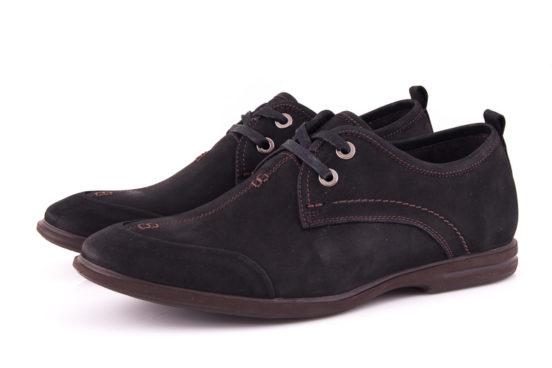 Мужские туфли из нубука Esente 3102-236 bln фото 6