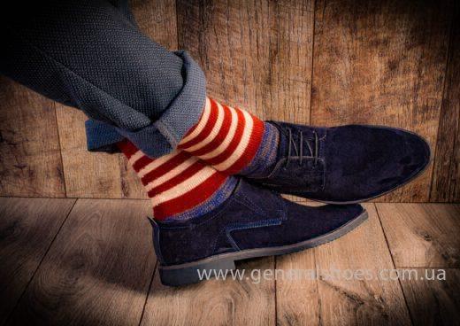 Мужские замшевые туфли Ed-Ge Titan blue фото 11