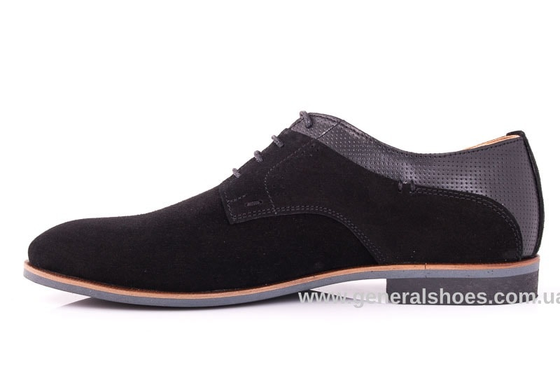Мужские замшевые туфли Ed-Ge Boston blk.z. фото 6