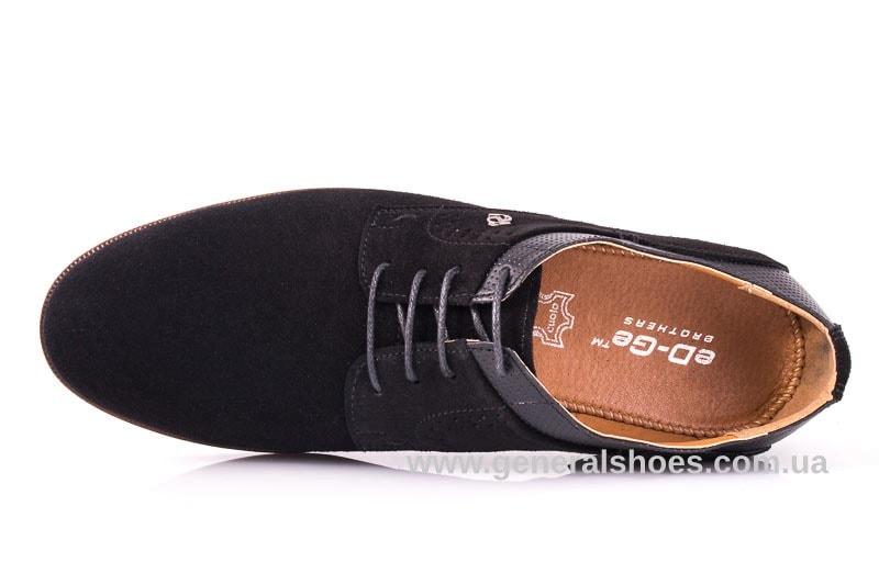 Мужские замшевые туфли Ed-Ge Boston blk.z. фото 4