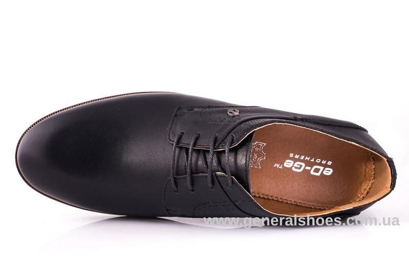 Мужские кожаные туфли Ed-Ge Boston blk. фото 4