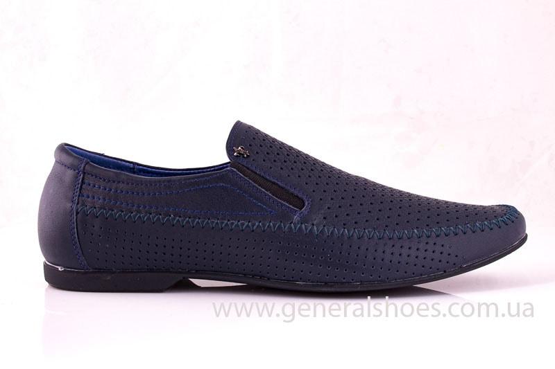 Мужские кожаные мокасины Falcon 20816 blue фото 2