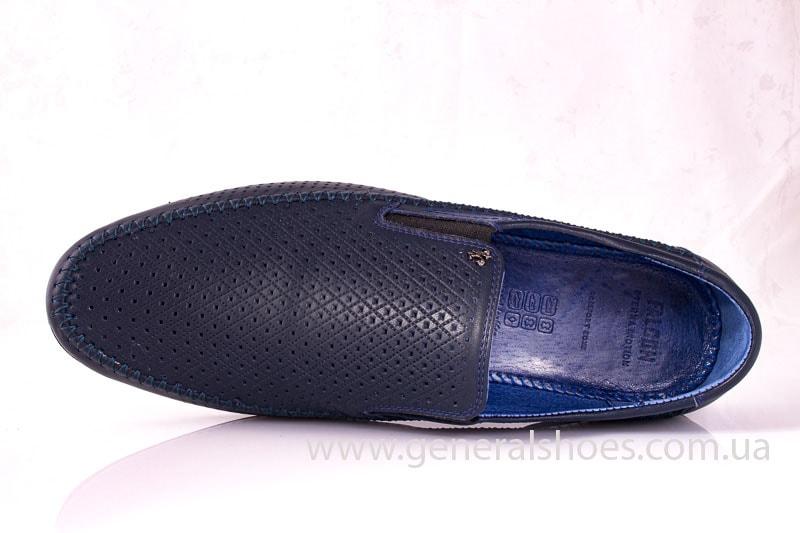 Мужские кожаные мокасины Falcon 20816 blue фото 4