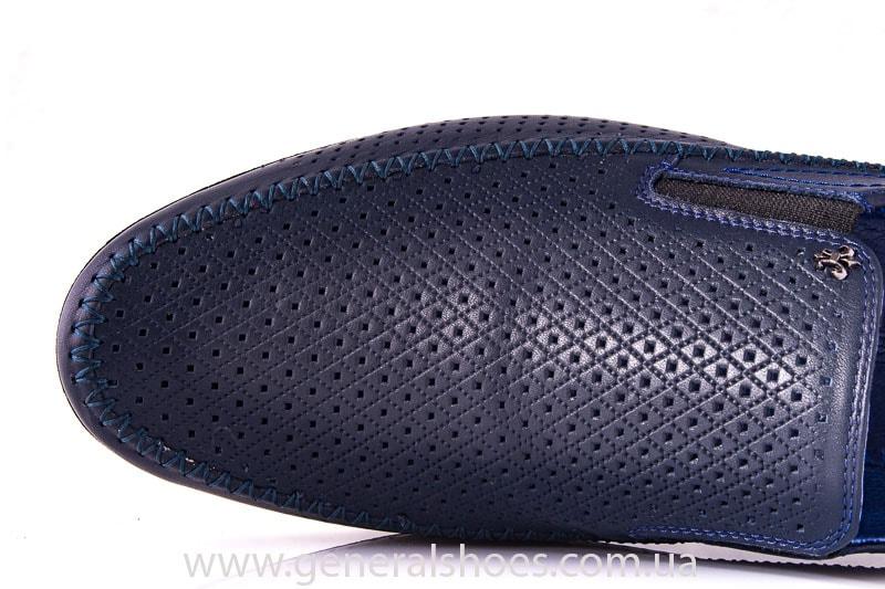 Мужские кожаные мокасины Falcon 20816 blue фото 5