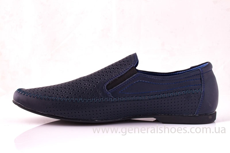 Мужские кожаные мокасины Falcon 20816 blue фото 6