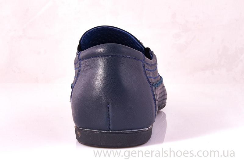 Мужские кожаные мокасины Falcon 20816 blue фото 7