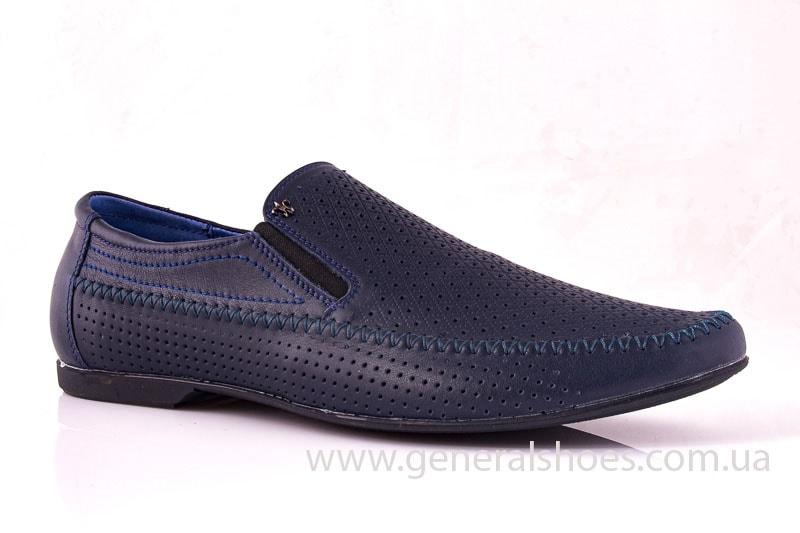 Мужские кожаные мокасины Falcon 20816 blue