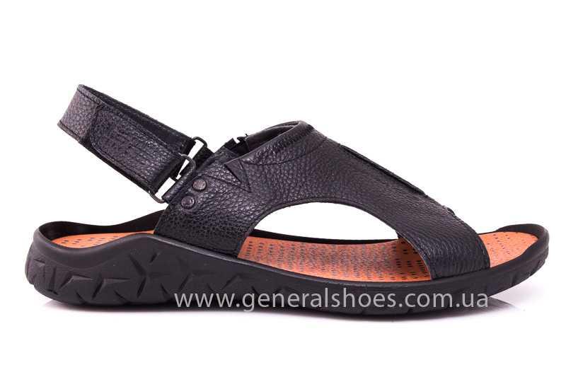 Мужские кожаные сандалии 31 monza blk. фото 2