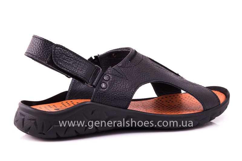 Мужские кожаные сандалии 31 monza blk. фото 3