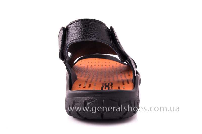 Мужские кожаные сандалии 31 monza blk. фото 4